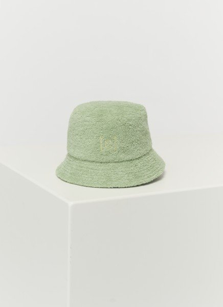 BUCKET HAT FROTTÉ : lime