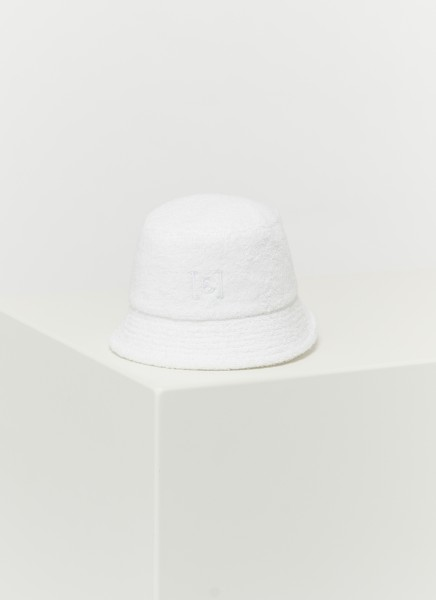 BUCKET HAT FROTTÉ : blanc