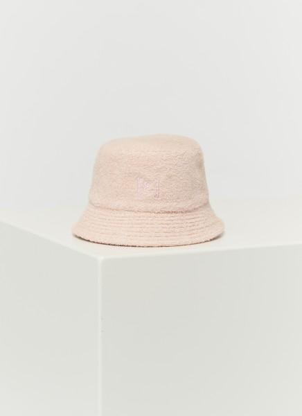 BUCKET HAT FROTTÉ : rosé