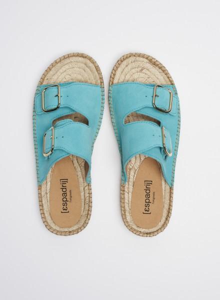 CLAQUETTE : turquoise