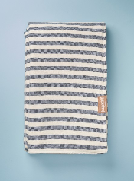 BEACHPLAID STRIPES FROTTÉE : ecru/marine