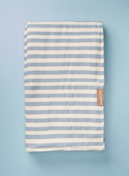 BEACHPLAID STRIPES FROTTÉ : bleu clair