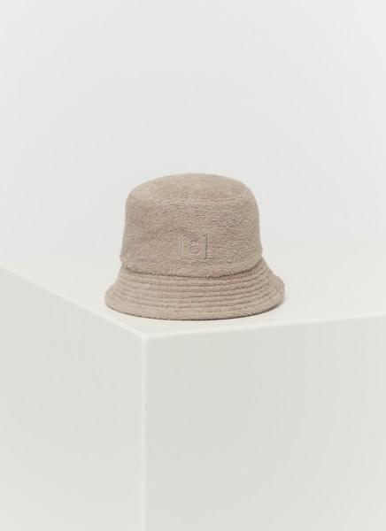 BUCKET HAT FROTTÉ : sable